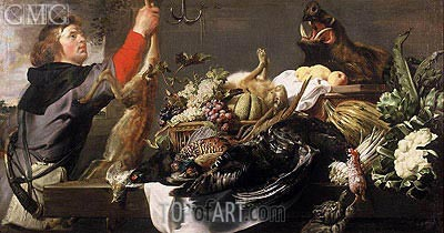 Still life with Huntsman, c.1615 | Frans Snyders | Painting Reproduction