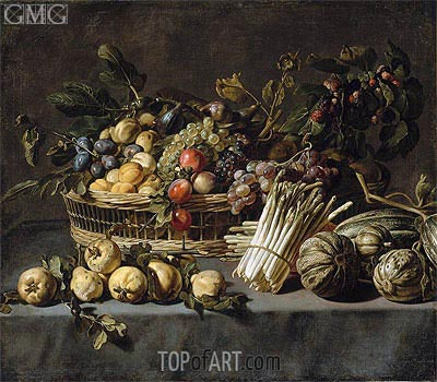 Vegetables and a Basket of Fruit on a Table,  | Frans Snyders | Gemälde Reproduktion