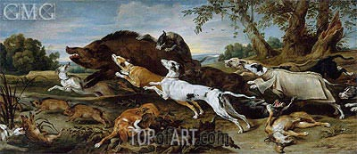Frans Snyders | Boar Hunt, c.1625/30