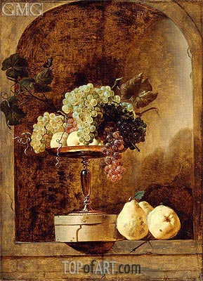 Grapes, Peaches and Quinces in a Niche,  | Frans Snyders | Gemälde Reproduktion