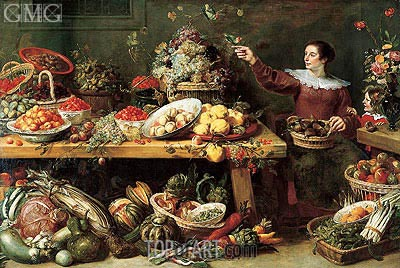 Still Life with Fruit and Vegetables, c.1625/35 | Frans Snyders | Painting Reproduction
