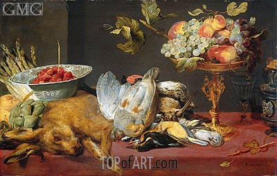 Still Life with Dead Game and Fruits, 1657 | Frans Snyders | Gemälde Reproduktion