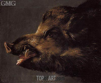Boar's Head, c.1620/40 | Frans Snyders | Painting Reproduction