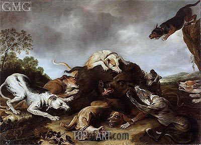 The Boar Hunt , c.1650 | Frans Snyders | Painting Reproduction