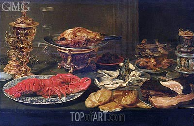 Still Life with a Lobster,  | Frans Snyders | Painting Reproduction