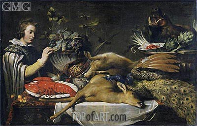 Pantry Scene with a Page, c.1612 | Frans Snyders | Painting Reproduction