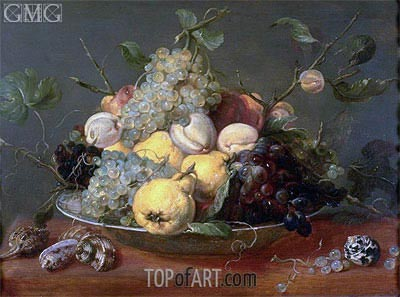 Still Life with Fruit in a Porcelain Bowl,  | Frans Snyders | Painting Reproduction