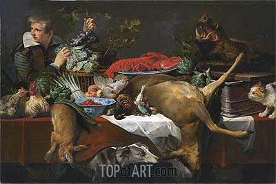 Pantry Scene with Servant, c.1615/20 | Frans Snyders| Painting Reproduction