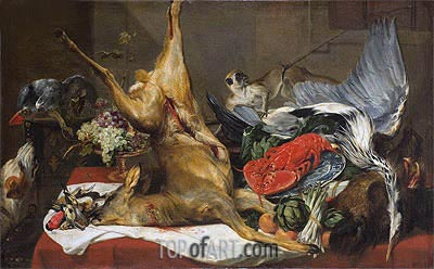 Still Life of Dead Game, c.1630/50 | Frans Snyders| Gemälde Reproduktion