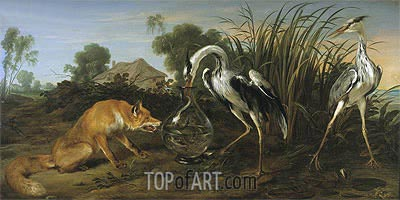 Sable of the Fox and the Heron,  | Frans Snyders| Painting Reproduction
