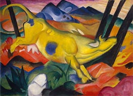 Yellow Cow, 1911 by Franz Marc | Painting Reproduction