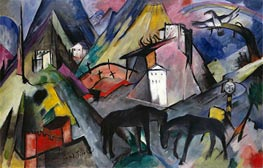 The Unfortunate Land of Tyrol | Franz Marc | outdated