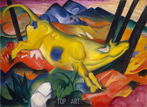Yellow Cow, 1911 | Franz Marc | Painting Reproduction