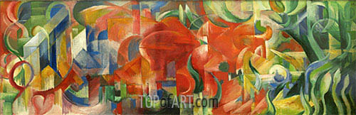 Playing Forms, 1914 | Franz Marc| Painting Reproduction
