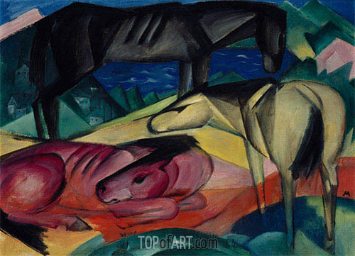Franz Marc | Three Horses II, 1913