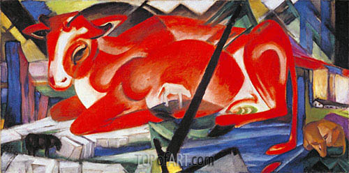 The World Cow, 1913 | Franz Marc| Painting Reproduction