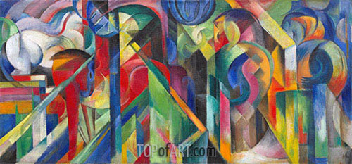 Stables, 1913 | Franz Marc| Painting Reproduction