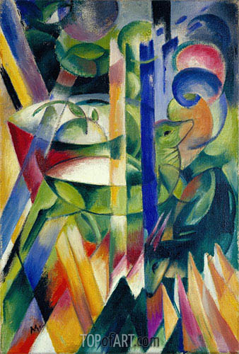 Franz Marc | The Little Mountain Goats, 1913/14