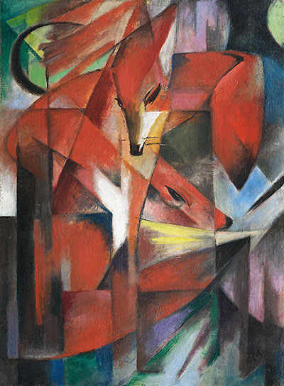 Foxes, 1913 | Franz Marc | Painting Reproduction