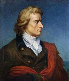Portrait of Friedrich von Schiller, c.1808/09 von Franz Gerhard von Kugelgen | Gemälde-Reproduktion