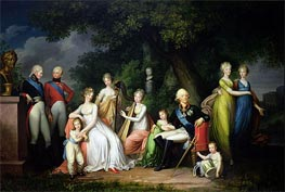 Paul I, Maria Feodorovna and their Children, c.1800 von Franz Gerhard von Kugelgen | Gemälde-Reproduktion