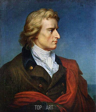 Franz Gerhard von Kugelgen | Portrait of Friedrich von Schiller, c.1808/09