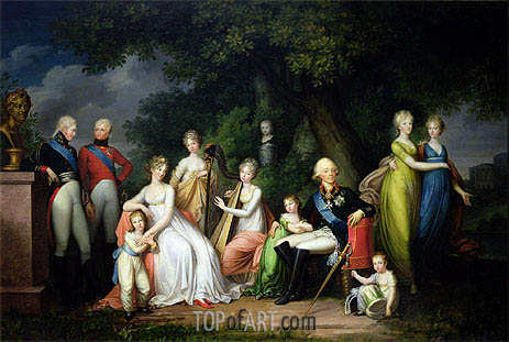 Paul I, Maria Feodorovna and their Children, c.1800 | Franz Gerhard von Kugelgen | Painting Reproduction
