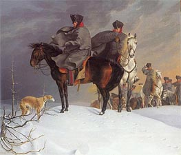 Prussian Cavalry Outpost in the Snow | Franz Kruger | outdated