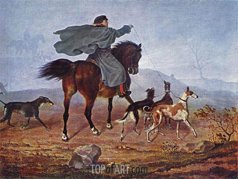 Ausritt zur Jagd, 1819 | Franz Kruger | Painting Reproduction