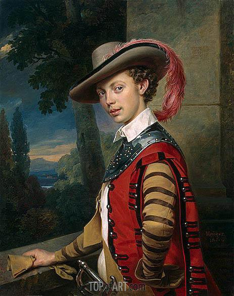Franz Kruger | Portrait of Prince Nikolai Saltykov, 1850