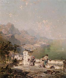 Amalfi, The Gulf Of Salerno | Unterberger | Painting Reproduction