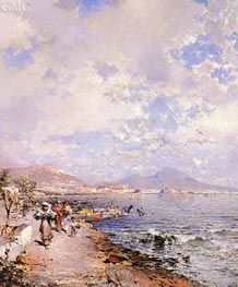 The Bay of Naples, undated von Unterberger | Gemälde-Reproduktion