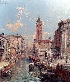 Rio Santa Barnaba, Venice | Unterberger | Gemälde Reproduktion