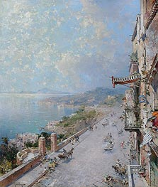 View of Posilipo, near Naples | Unterberger | Gemälde Reproduktion
