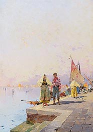 A Sunny Day in Venice, undated von Unterberger | Gemälde-Reproduktion