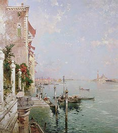 Venice: View from the Zattere with San Giorgio Maggiore in the Distance | Unterberger | Gemälde Reproduktion