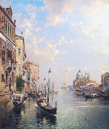 Grand Canal, Venice, undated by Unterberger | Painting Reproduction