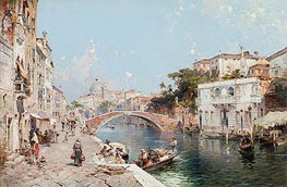 Canal in Venice, undated by Unterberger | Painting Reproduction