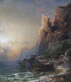 Gulf of Salerno | Unterberger | Painting Reproduction