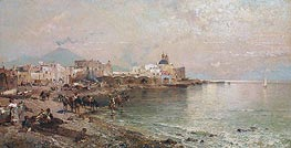 Torre del Greco, Bay of Naples, undated by Unterberger | Painting Reproduction