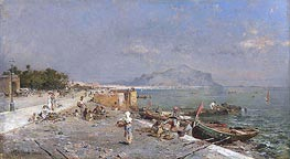 On the Waterfront, Palermo, undated by Unterberger | Painting Reproduction