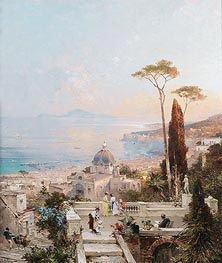 Amalfi, Looking towards the Gulf of Salerno, undated by Unterberger | Painting Reproduction