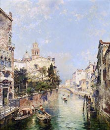 Santa Barnaba, Venice, undated by Unterberger | Painting Reproduction