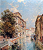 A View in Venice, Rio S. Marina | Franz Richard Unterberger