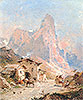 Figures in a Village in the Dolomites | Franz Richard Unterberger