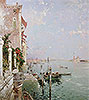 Venice: View from the Zattere with San Giorgio Maggiore in the Distance | Franz Richard Unterberger