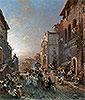 Religious Procession in Italian City | Franz Richard Unterberger