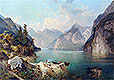 Resting in Alps | Franz Richard Unterberger