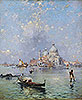 Gondolas in front of the Santa Maria della Salute, Venice | Franz Richard Unterberger
