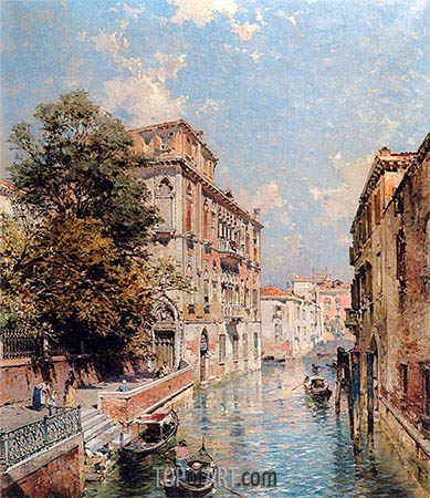 Unterberger | A View in Venice, Rio S. Marina, undated